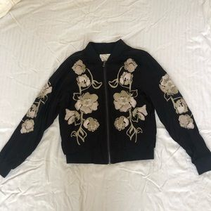 Urban Outfitters Embroidered Zip-up Jacket